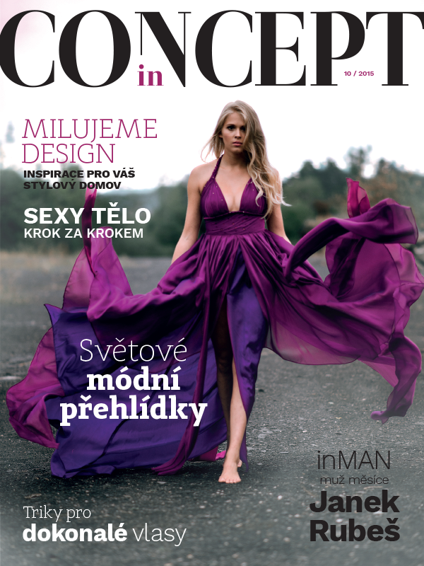 Cover and fashion editorial for magazine INCONCEPT