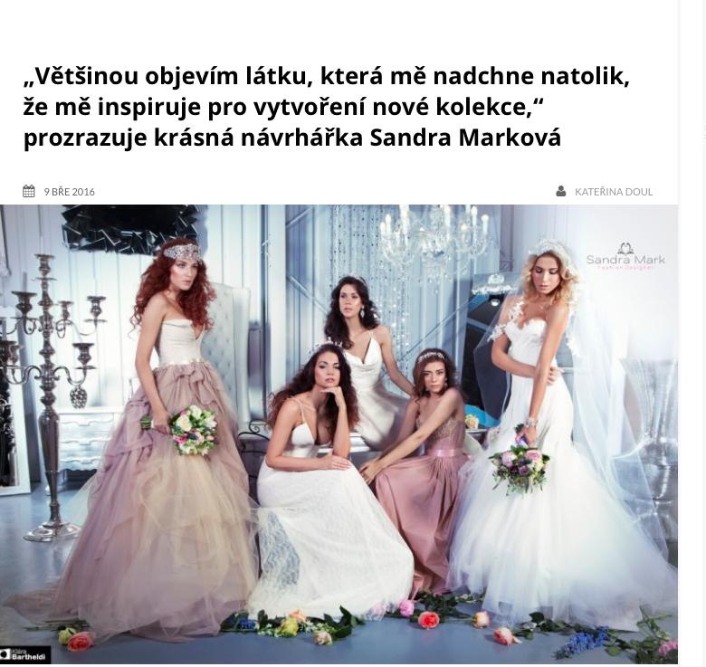 Rozhovor o nové kolekci Bridal SS16